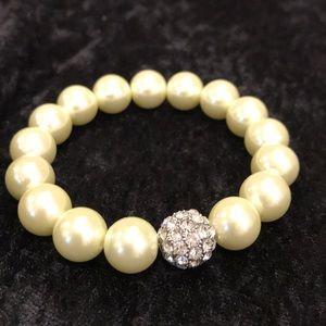 Stella & Dot Soirée Pearl Pave Stretch Bracelet